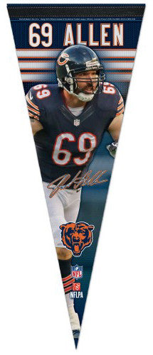 "Jared Allen ""Signature Series"" Chicago Bears Premium Felt Collector's Pennant - Wincraft"