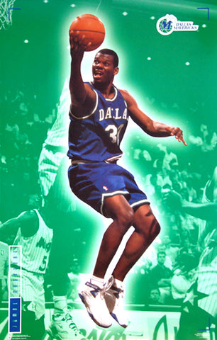 "Jamal Mashburn ""Super Action"" Dallas Mavericks NBA Basketball Poster - Costacos 1995"