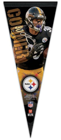 "James Conner ""Signature Series"" Pittsburgh Steelers Premium Felt Collector's PENNANT - Wincraft 2017"