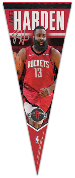 "James Harden ""Signature Series"" Houston Rockets 2019 NBA Premium Felt Collector's Pennant - Wincraft"