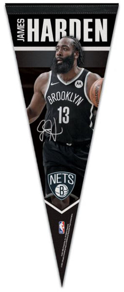 "James Harden ""Signature Series"" Brooklyn Nets 2021 NBA Premium Felt Collector's Pennant - Wincraft"