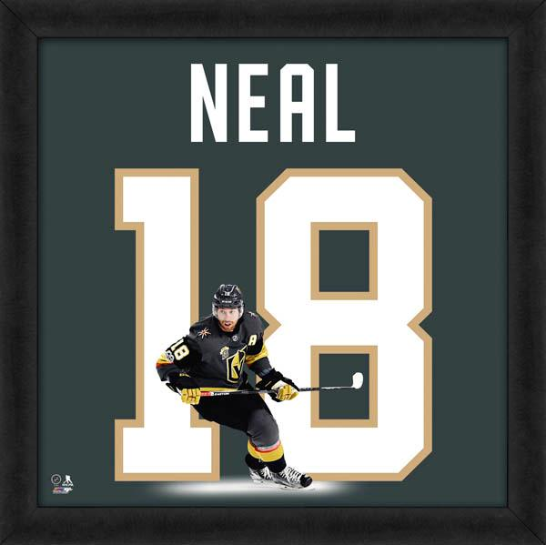 "James Neal ""Number 18"" Vegas Golden Knights NHL FRAMED 20x20 UNIFRAME PRINT - Photofile"