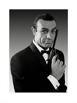 Sean Connery James Bond Portrait 1963 Pyramid Posters Sports Poster Warehouse