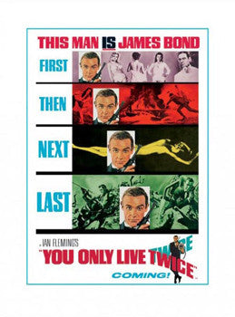 "James Bond ""You Only Live Twice"" (1967) Poster Reprint - Pyramid"