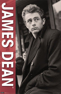 "James Dean ""Rebel"" Poster (1950s Trenchcoat Pose) - Trends International"