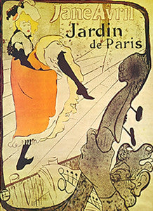 Jane Avril - Jardin de Paris (1893) by Toulouse-Lautrec - Eurographics