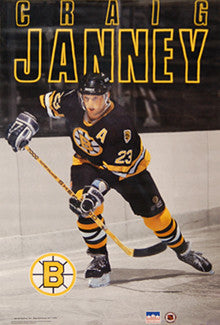 "Craig Janney ""Action"" Boston Bruins Poster - Starline 1991"