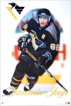 "Jaromir Jagr ""Masterpiece"" Pittsburgh Penguins Poster - Norman James Corp. 1998"