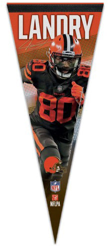 Jarvis Landry Cleveland Browns NFL Action Signature Series Premium Felt Collector's Pennant - Wincraft Inc.