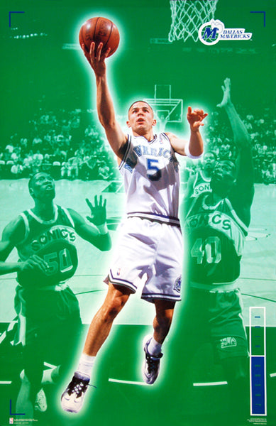 "Jason Kidd ""Rookie Action"" Dallas Mavericks NBA Basketball Poster - Costacos 1995"