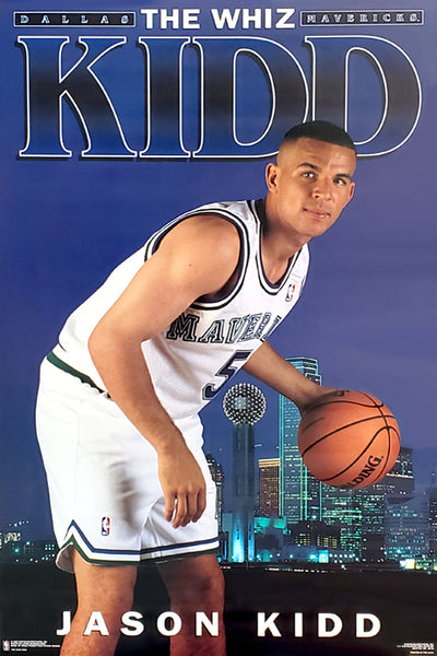 "Jason Kidd ""The Whiz Kidd"" Dallas Mavericks Poster - Costacos Brothers 1995"