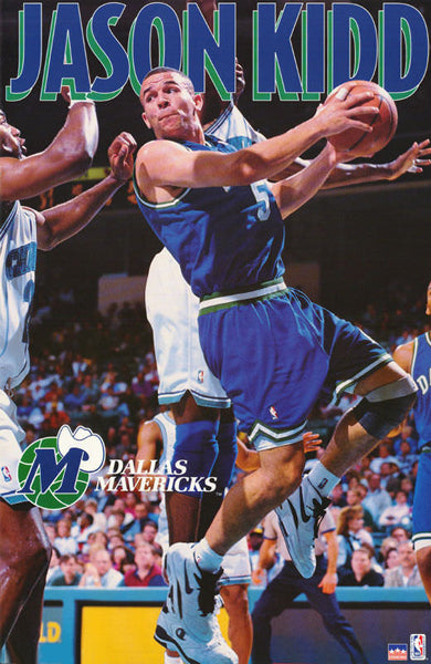 "Jason Kidd ""Rookie Action"" Dallas Mavericks Poster - Starline Inc. 1995"