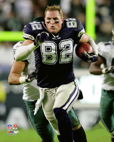 "Jason Witten ""Helmetless Run"" (2007) Dallas Cowboys Premium Poster - Photofile 16x20"
