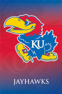 Kansas Jayhawks Official NCAA Logo Poster - Costacos Sports