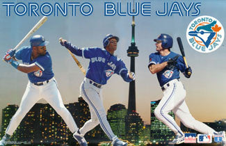 "Toronto Blue Jays ""Three Stars"" Poster (Alomar, Molitor, Carter) - Starline 1995"