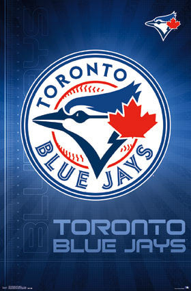 Toronto Blue Jays Official MLB Baseball Team Logo Poster - Trends International