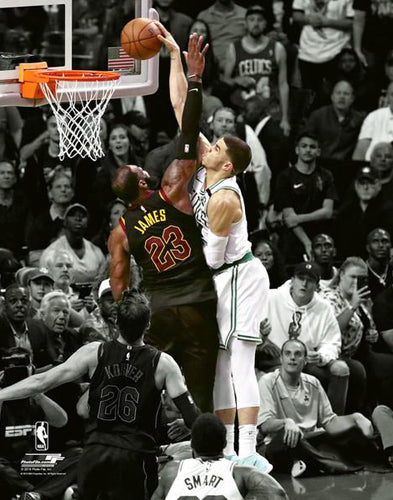 Jayson Tatum POSTERIZES LeBron James (2018 Eastern Conference Finals) Boston Celtics Premium Poster Print - Photofile Inc.