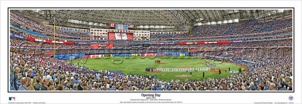 "Toronto Blue Jays ""Opening Day"" Rogers Centre Panoramic Poster Print - Everlasting 2012"