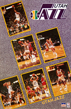"Utah Jazz ""Six Stars"" (1990-91) - Starline Inc."