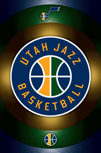 Utah Jazz Official NBA Basketball Team Logo Poster - Trends International