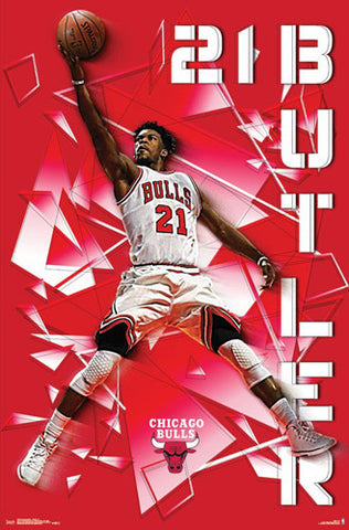 "Jimmy Butler ""Smashing"" Chicago Bulls Official NBA Basketball Poster - Trends 2017"
