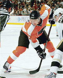 "Jeff Carter ""Faceoff"" Philadelphia Flyers Premium Poster Print - Photofile 16x20"