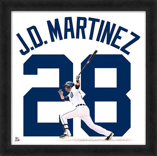 "J.D. Martinez ""Number 28"" Detroit Tigers FRAMED 20x20 UNIFRAME PRINT - Photofile"