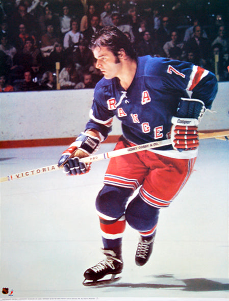 "Rod Gilbert ""Action"" New York Rangers Portnoy Collection Poster - Sports Posters Inc. 1973"