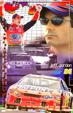 "Jeff Gordon ""Victory Lane"" Official NASCAR Racing Poster - Starline 2002"