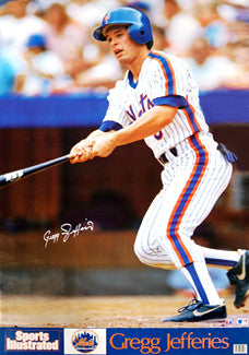 Greg Jefferies New York Mets Classic Sports Illustrated Poster - Marketcom 1988