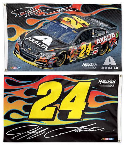 Jeff Gordon NASCAR AXALTA #24 Official HUGE 2-Sided 3'x5' Banner Flag - Wincraft 2015