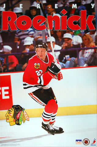 "Jeremy Roenick ""Action"" (1992) Chicago Blackhawks NHL Hockey Poster - Starline Inc."