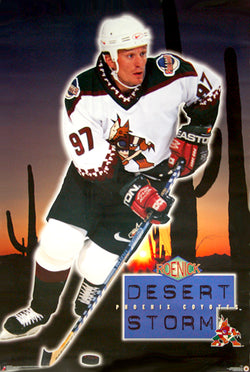 "Jeremy Roenick ""Desert Storm"" Phoenix Coyotes NHL Action Poster - Costacos 1996"