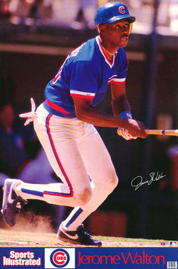 "Jerome Walton ""Dynamo"" Chicago Cubs MLB Signature Series Poster - Marketcom Sports Illustrated 1989"