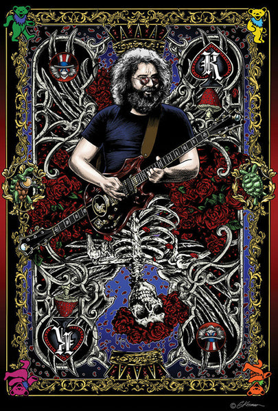 "Jerry Garcia ""The King"" Tarot Card Grateful Dead Music Group Poster by Gary Kroman - Studio B. Inc."