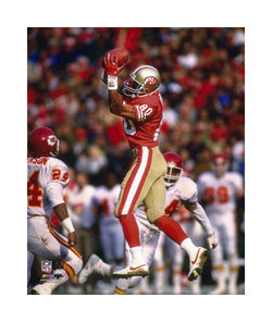 "Jerry Rice ""Work of Art"" (c.1991) Giclee-on-Canvas - Photofile"