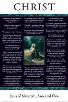 "Jesus Christ of Nazareth ""Wisdom"" (22 Quotes) Poster - Aquarius Images"