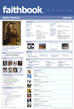 Faithbook (Jesus Christ Facebook Profile) Poster - Slingshot Publishing
