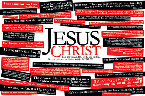 36 Quotes About Jesus Christ Poster - Slingshot Publishing
