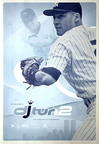 "Derek Jeter ""djTurn2"" New York Yankees Poster - Nike 2000"