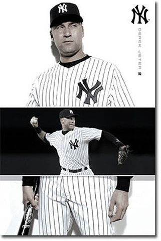 "Derek Jeter ""Throwback Hero"" New York Yankees Poster - Costacos 2010"