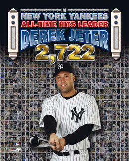 Derek Jeter New York Yankees All-Time Yankees Hit Leader Commemorative Poster Print - Photofile 2009