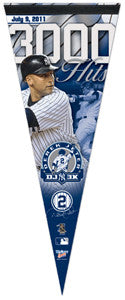 Derek Jeter 3000th Hit Commemorative Felt Pennant - Wincraft