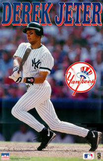 "Derek Jeter ""Rookie"" New York Yankees Poster - Starline 1996"