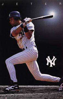 "Derek Jeter ""Shine"" New York Yankees Poster - Costacos Brothers 1997"