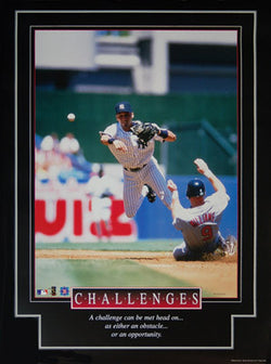"Derek Jeter ""Challenges"" New York Yankees Motivational Poster - Brockworld 1999"