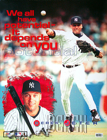 "Derek Jeter ""Potential"" New York Yankees Poster - Photo File 1999"