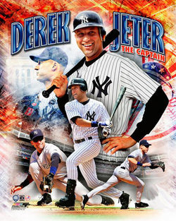 "Derek Jeter ""The Captain"" New York Yankees Premium Action Portrait Poster Print - Photofile 16x20"