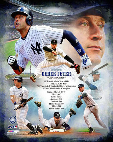 "Derek Jeter ""Captain Clutch"" Yankees Career Retrospective Premium Poster Print - Photofile Inc."