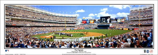 "Derek Jeter ""The Captain"" Panoramic Poster Print (Jeter Day at New York Yankee Stadium 9/7/2014) - Everlasting Images"
